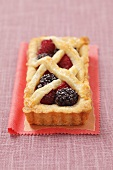 Blackberry-raspberry tart