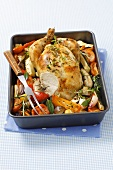 Roast chicken with ratatouille
