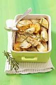 Roast potatoes with lemon and rosemary