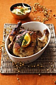 Szechuan-style spicy roast chicken (Christmas)