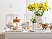 A spring breakfast buffet