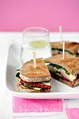Reuben sandwiches (corned beef sandwiches, USA)