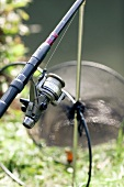 A fishing rod (close-up)