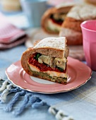Picnic loaf stuffed with antipasti