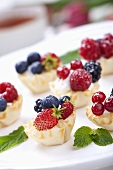 Mini Filo Cups Filled with Cream and Berries