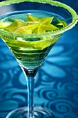 Apple Martini with Carambola Garnish