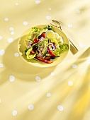 Nizza salad with tuna and egg