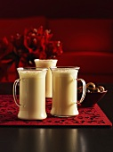 Eggnog in three glasses