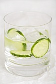 Gin and tonic with cucumber