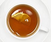 A cup of Earl Grey tea