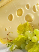 Leerdammer cheese with grapes