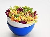 Pasta, vegetable and sweetcorn salad