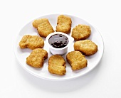 Chicken nuggets with dip