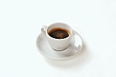 Espresso in cup and saucer