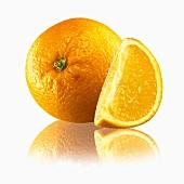 Orange and wedge of orange