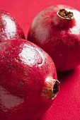 Three pomegranates (close-up)