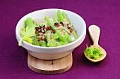 Gratinated celery with gorgonzola and raisins