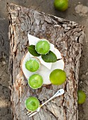 A coconut and lime cake