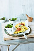Courgette frittata with cured San Daniele ham