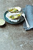 Oysters with lime butter