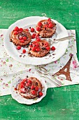 Petites Tartes au Chocolat (raspberry and chocolate tartlets)