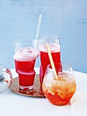 Singapore Sling and citrus punch