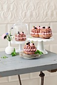 Mini cassis Bundt cakes with buttercream