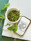 Basil gremolata with orange