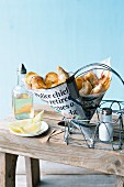Low fat fish and chips in newspaper