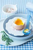 A soft boiled egg for Easter
