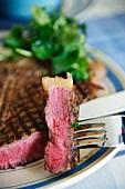 Bistecca alla fiorentina (T-bone steak Fiorentina, Italy)