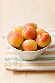 A bowl of fresh apricots