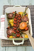 Roasted tomatoes with herbs