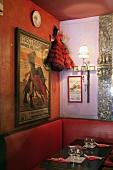 A flamenco dancer doll in a tapas bar