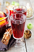Mulled wine with oranges (Christmas)