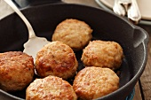 Chicken and pork burgers