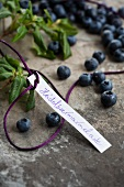 Label for blueberry jam