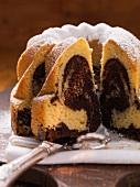 Vanilla and chocolate bundt cake
