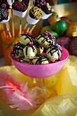 Decorated Easter sweets and marshmallows