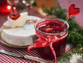 Cranberry jam at Christmas