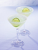 Perfect margarita (drink with tequila, lime juice & Cointreau)