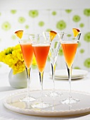 Orange-grapefruit-champagne cocktails