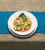 Coconut milk soup with chicken and pak choi (Thai)