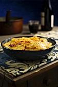 Potato gratin with courgette