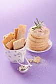 Vanilla taler cookies with rosemary and almond tea cookies