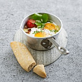 Coddled egg with coconut milk