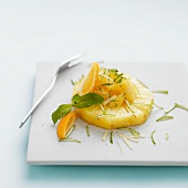 Pineapple tartare with ginger and limes