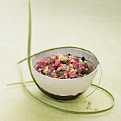 Duck tartare with peanuts