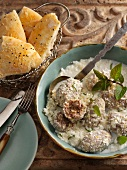 Turkish meatballs in yoghurt