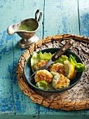 Swedish-style zander fishcakes